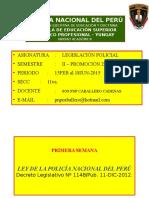 Legislación Policial Ets Pnp Yungay 2016