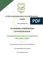 1ra Convocatoria - XXII Seminario Latinoamericano de Educación Musical 1ra Convocatoria