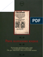 The First Slovenian Books, Exhibition Catalogue, NUK, 2000