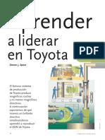 Aprende a Liderar en Toyota