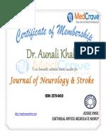 Aunali Khaku Editorial Board Journal of Neurology and Stroke