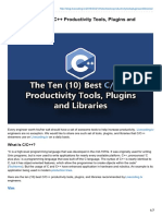 The Ten (10) Best C/C++ Productivity Tools, Plugins and Libraries