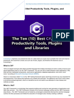 The Ten (10) Best C#/.Net Productivity Tools, Plugins, and Libraries