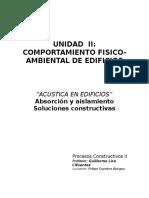 Comportamiento Fisico-Ambiental de Edificiosl Acustica