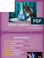 Third English Class