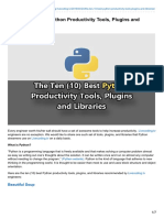 The Ten (10) Best Python Productivity Tools, Plugins and Libraries