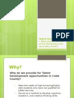 talent-development models ccsd-e