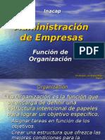 FUNCION ORGANIZACIÓN