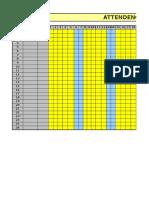 Daily Attendance Sheet