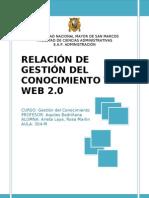 RELACIÓN ENTRE GESTIÓN DEL CONOCIMIENTO Y WEB 2.0