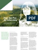 Han Sai Por - An Interview