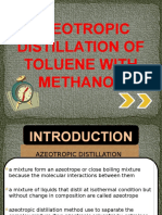 Azeotropic Distillation of Toluene With Methanol