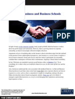 Better Business and Business Schools