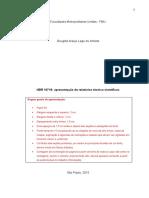 Modelo de Relatorio Tecnico-cientifico