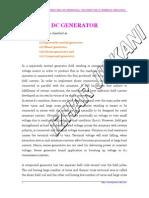 DC GENERATOR, BASIC PRINCIPLE OF OPERATION, CONSTRUCTION & WORKING PRINCIPLE