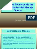Aspectos Tecnicos Del Masaje Sueco. Mejorado.
