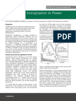 Transformer Energisation
