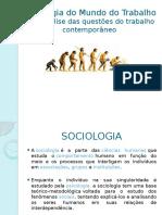 Sociologia Mundo Trabalho