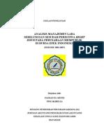 Proposal Seminar Skripsi Analisis Manajemen Laba Sebelum dan Sesudah Right Issue
