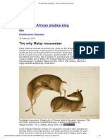 The Wily Malay Mousedeer