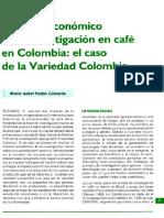 Impacto Economico de La Investigacion en Cafe en Colombia El Caso de La Variedad Colombia