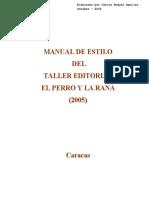 Manual de Estilo Editorial El Perro y La Rana Oct 05