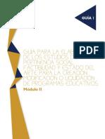 Guia Para La Elaboracion de Los Estudios de Pertinencia Social Factibilidad y Estado Del Arte Para La Creacion Modificiacion o Liquidacion de Programas Educativos