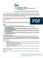 IPSF Regional Event Grant Call 2015-2016