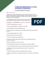 Pnl - Test Canal Sensorial