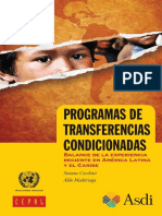 Balance de Los PTC en Latinomaerica