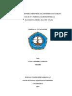 Proposal Evaluasi Kinerja Mesin Bor Di Pt Nusa Halmahera Minerals