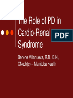 Berlene v the Role of PD in Cardio Renal Syndrome