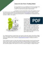 FAP Turbo - aplicaciones de este Forex Trading Robot