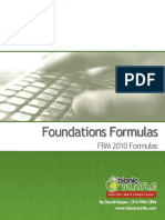 2010.T1. Foundations Key Formulas