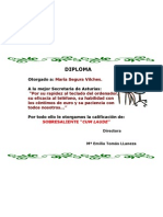 Diploma Para Maria