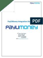 PayUMoney Technical Integration Document