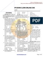 IBPS BANK CLERK ONLINE CWE, 08.12.2013