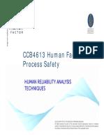 Human Factor HRA Techniques