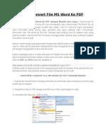 Cara Convert File MS Word Ke PDF