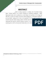 Vibration Analysis of Rotor Shaft_Rrport