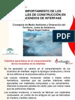 El comportamiento de los materiales de construcción en los incendios de interfase