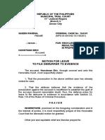 Motion for Demurrer - Copy