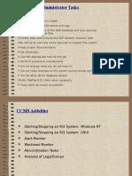SAP CCMS Activities