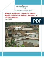 PAHO Report on Anwiam - April 2010