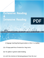 Intensive and Extensive Reading