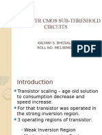 Low Power Cmos Sub-threshold Circuits Presentation