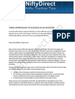THREE APPROACHES TO SUCCEED AS AN INVESTOR
