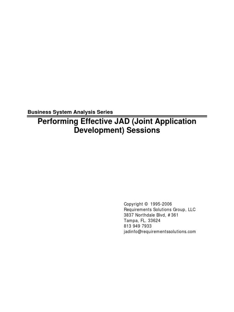 effective jad session