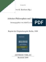 Adolf Levenstein - Arbeiter-Philosophen und -Dichter (Auszüge)