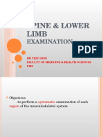 Spine and Lower Limb Examination